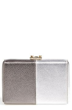 Mark Cross Marc Cross 'Grace' Metallic Leather Clutch available at #Nordstrom