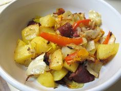 I Believe I Can Fry: Oven-Roasted Smoked Sausage with Cabbage, Potatoes & Peppers