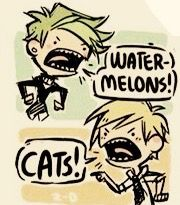 Boys, boys. You're both pretty. And there's this thing called a catermelon, bro.