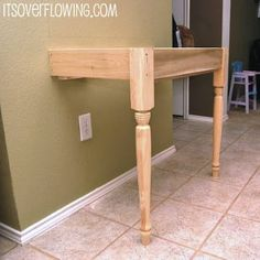 DIY how to build this desk. simple!  another option for a slim vanity -- perfect for behind the bedroom door.