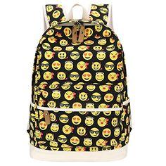 Bagerly Lightweight Canvas Laptop Bag Shoulder Daypack School Backpack Causal Handbag