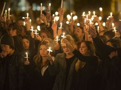 A candlelight vigil was held to show support for the