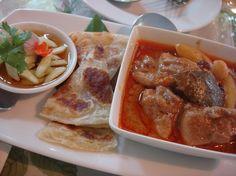 มัสมั่น โรตี Thai food chicken curry