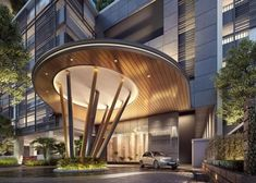 hotel entrance Thankful ensured porch design sunglasses look what i found Entrance Design, Entrance Gates, Main Entrance, Gate Design, Facade Design, Porte Cochere, Hotel Architecture, Architecture Design, Hotel Canopy
