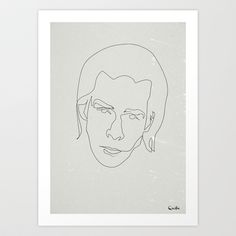 One line Nick Cave Art Print by quibe - $18.72