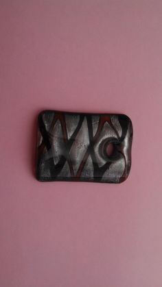 Black Red Silver Dichroic Art Glass Pendant by MICSJEWELSGALORE