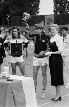 Princess Grace & Björn Borg & Guillermo Vilas. Looks likes Borg reigns again in Monaco.