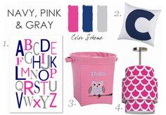 Navy & Pink Nursery Design