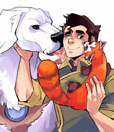suikuzu, Avatar: The Legend of Korra, Bolin, Pabu (Legend of Korra), Naga (Legend of Korra), Dog