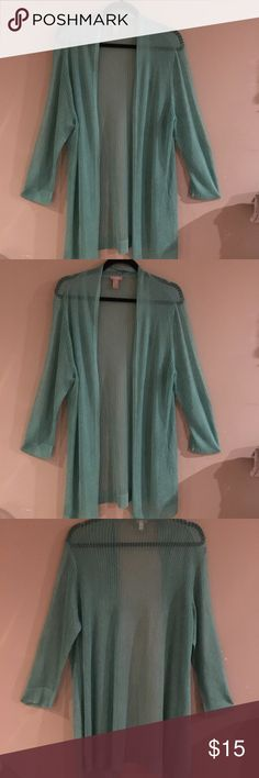 Cardigan, Sz ,Chico's Sz 3 Adorable, almost sheer, wear it as a cover up on the beach or just over your shoulders on a cool night. Chico's Sz 3 Chico's Sweaters