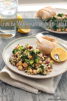 "Healthy and easy! Perfect for a work lunch! // ""Crunchy Mediterranean Grain Salad"" 