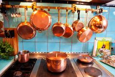 Copper pots! Dorothee Schumacher at home in Germany from the Selby