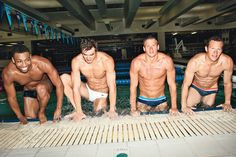 August Hunks of the Month: #U.S. #Olympic #swimmers via Glamour Mag