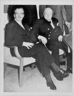 1955 Sir Anthony Eden and Prime Minister Winston Churchill. Anthony Eden succeeded to the office First Prime Minister, Nobel Prize In Literature, Sir Anthony, British Prime Ministers, Winston Churchill, Press Photo, British Army, Soviet Union, British History