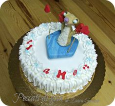 Funny cake to ridicule the weaknesses of her lover ...