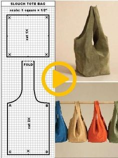 Best No Cost × – # Suggestions Sewing Tutorials, Sewing Crafts, Sewing Projects, Bag Patterns To Sew, Sewing Patterns, Japanese Knot Bag, Denim Bag, Fabric Bags, Handmade Bags