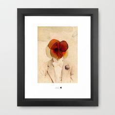 dispersed mind Framed Art Print by Alba Blázquez - $34.00