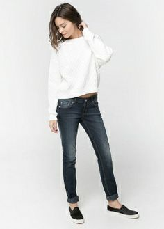 Textured flowy blouse - All - Women - MANGO