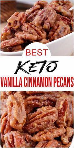 Low Carb Candy, Keto Candy, Ketogenic Recipes, Low Carb Recipes, Cooking Recipes, Pecan Recipes, Pumpkin Recipes, Bon Dessert, Comida Keto