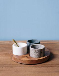 Wooden Condiment Server at Rose & Grey Vintage Kitchen Accessories, Home Accessories, Kitchen Items, Kitchen Decor, Kitchen Tools, Black And Gold Bathroom, Kitchenware, Tableware, Concrete Crafts