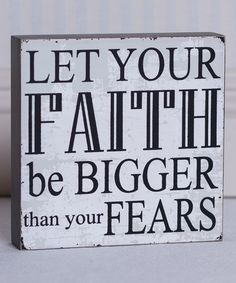 Look at this 'Let Your Faith' Box Sign on #zulily today!