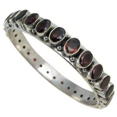 Bangle Jewelry Sterling Silver Garnet Gemstone 2.25 inches (Jewelry) http://www.amazon.com/dp/B000FSYI9Q/?tag=pindemons-20 B000FSYI9Q