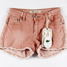 """NWT Coral Denim Cut Off Jean Shorts  NWT M2F Coral Denim Cut-Off Distressed Jean Shorts. Unique color. Sexy yet modest. Cotton, Spandex. Waist 25-26"""" Hips 27"""" Front Rise 7.5"""" Length 9.5"""" Back Rise 12"""". Machine Wash cold. Tumble dry low.  Steph Boutique Shorts Jean Shorts"""