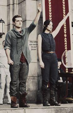 Katniss and Peeta.
