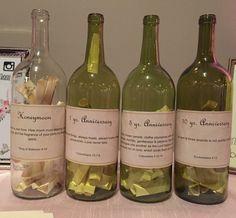Cute wedding idea. Time capsules for anniversaries