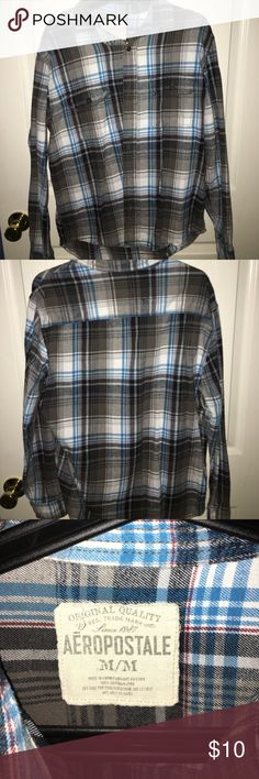 Original Aeropostale Flannel Very soft for a flannel, used only twice. Can be used as an oversized flannel Aeropostale Shirts