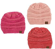 a19fb5d25e2 BYSUMMER C.C Multi-Colored Warm Soft Cable Knit Skull Cap Slouch Beanie  Winter Hat (