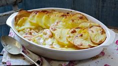Light smoked haddock fish pie |      This healthier fish pie recipe has added texture from golden sliced potatoes layered on top. Each serving provides 400kcal, 35g protein, 47g carbohydrate (of which 6g sugars),7g fat (of which 2.5g saturates), 5.5g fibre and 1.4g salt.
