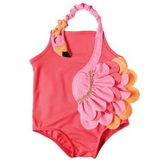 "What says ""fun in the sun"" more than this adorable flamingo swimsuit by Mud Pie? This nylon spandex bathing suit features layered a flamingo wrap around appliqu Mud Pie Baby, Flamingo Party, Flamingo Birthday, My Baby Girl, Swimsuits, Swimwear, Kind Mode, Baby Kids, Toddler Girls"