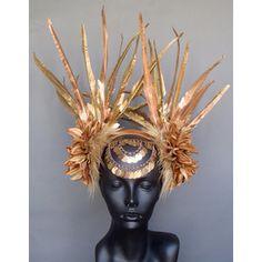 Golden Headdress, Miss G Designs: Etsy