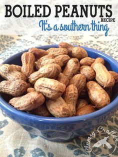 boiled peanuts easy recipe southern foods from Clumsy Crafter Boiled Peanuts Recipe