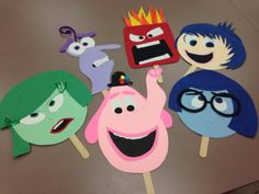 Inside out masks Feelings Activities, Social Skills Activities, Learning Activities, Activities For Kids, Crafts For Kids, Inside Out Emotions, Feelings And Emotions, Inside Out Party Ideas, Movie Inside Out