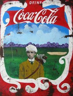 Cedric Smith, Mixed Media on Canvas, Coca Cola Caddy