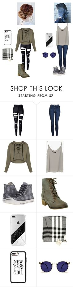 """""""Untitled #92"""" by annakatheriner on Polyvore featuring WithChic, Topshop, Converse, Burberry, Casetify and Spitfire"""