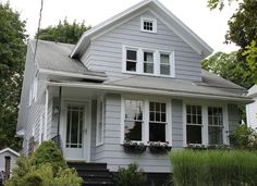 Behr Sparrow, our new exterior house color.