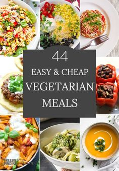 Do you need new cheap vegetarian meals? Easy as one, two, three you can whip up many of these meals in minutes. Here you'll find pasta vegetarian meals, vegetarian soup recipes, and more. There's no need to be intimated to cook vegetarian recipes. Cheap Vegetarian Meals, Vegetarian Soup, Vegetarian Recipes Dinner, Vegetarian Cooking, Veggie Recipes, Soup Recipes, Healthy Recipes, Delicious Recipes, Dinner Recipes