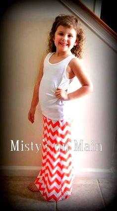 Chevron Children's & Girls Maxi Skirts by MistysonMain on Etsy, $22.00