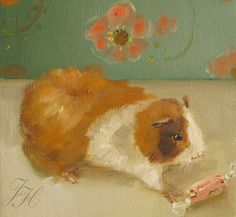 Mr. Pickles, The Guinea Pig At Black Walnut Manor Disappeared For Eleven Days, Surviving On French Nougat....- Limited Edition Print.