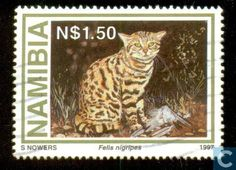 Postage Stamps - Namibia - Small wild cats
