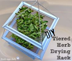 DIY Tiered Herb Drying Rack  http://www.fresheggsdaily.com/2013/05/diy-tiered-herb-drying-rack-using.html