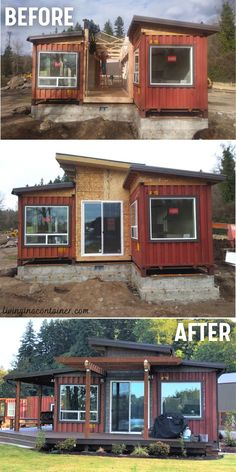 Building A Container Home, Container Buildings, Container Architecture, Container Houses, Shipping Container Home Designs, Container House Design, Tiny House Design, Shipping Containers, Tiny House Cabin