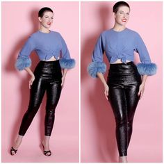 VINTAGE Fredrick's of Hollywood inspired LAME' Cigarette PANTS Alexandra of California 8 colors - You will look fabulous in these made in these mid century Fredricks of Hollywood inspired cigarette pants created with top quality Lame fabric.