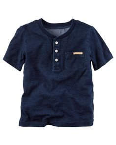 Kid Boy Indigo Henley from Carters.com. Shop clothing & accessories from a trusted name in kids, toddlers, and baby clothes.
