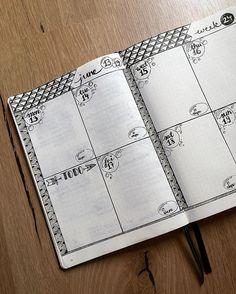 This week's dailies.  (Inspired by both @boho.berry and @nicoles.journal)  #bulletjournal #bulletjournalcommunity #weeklyspread #dailyspread #plannercommunity #plannerjunkie #patterns #bubbles