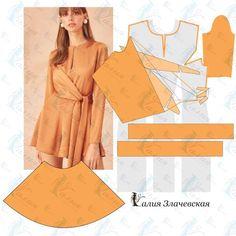 Column Dress, Wrap Pattern, Pinafore Dress, Dress Sewing Patterns, Diy Dress, Fashion Sewing, Babydoll Dress, Pattern Fashion, Dress Making