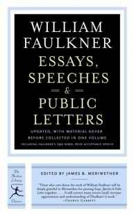 Author: William Faulkner & James B. Meriwether . Available on iBook